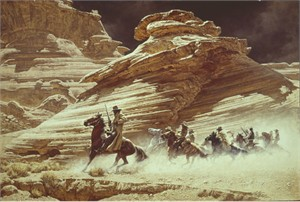 """Frank McCarthy Hand Numbered Anniversary Edition Canvas  Giclee """"Dust Stained Posse"""""""