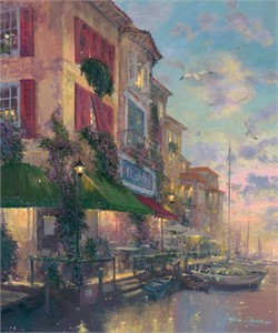 "James Coleman Handsigned and Numbered Limited Edition Embellished Giclee on Canvas:""Tuscan Twilight"""