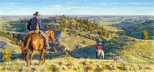"Bob Coronato Limited Edition Fine Art SmallWorks™ Giclée Canvas:""Head five miles that way,..."""