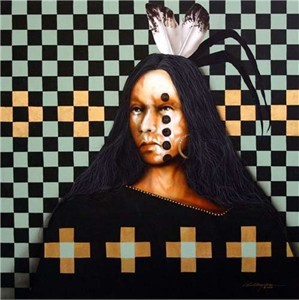"JD Challenger Hand Signed and Numbered Limited Edition Giclee ""Lakota Sun"""