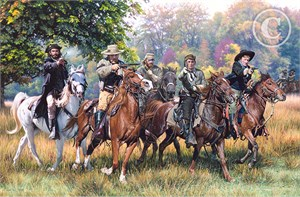 """John Paul Strain Hand Signed and Numbered Limited Edition:""""Headquarters, Gettysburg"""""""