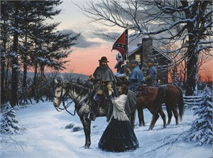 """John Paul Strain Hand Signed and Numbered Limited Edition Canvas Giclee:""""The Parting"""""""