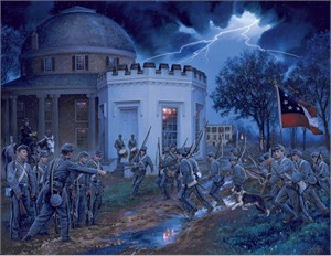 """John Paul Strain Hand Signed and Numbered Limited Edition:""""Alabama Corps of Cadets Call to Battle"""""""