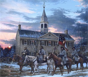 "John Paul Strain Hand Signed and Numbered Limited Edition Canvas Giclee:""Defenders of the Valley"""