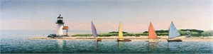 "Michael Keane  Handsigned & Numbered Limited Edition Print:""Nantucket Rainbows"""