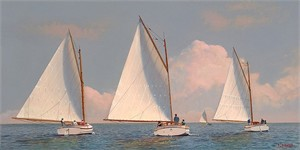 "Michael Keane Handsigned and Numbered Limited Edition Giclee:""Summer Sails"""