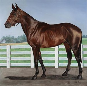 """Ken Keeley Handsigned and Numbered Limited Edition Giclee on Canvas :""""THOROUGHBRED"""""""