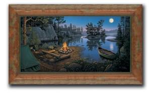 """Kim Norlien Framed Open Edition Canvas :""""Moonlight Bay"""""""