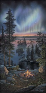 "Kim Norlien Handsigned and Numbered Limited Edition :""Night Fire"""