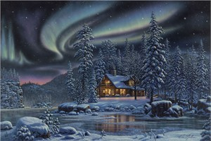 "Kim Norlien Handsigned and Numbered Limited Edition :""Aurora Bliss"""