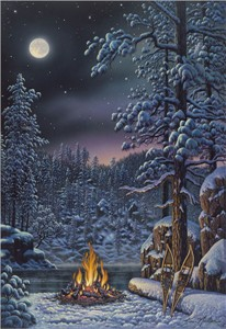 "Kim Norlien Handsigned and Numbered Limited Edition :""Fire & Ice"""