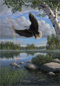"Kim Norlien Handsigned and Numbered Limited Edition :""On Eagle's Wings"""