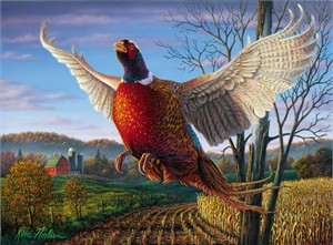 """Kim Norlien Handsigned and Numbered Limited Edition :""""1999 Minnesota Pheasant Stamp"""""""