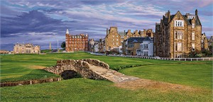 "Linda Hartrough Handsigned and Numbered Limited Edition:""The Swilcan Bridge - The 18th Hole of the Old Course, St Andrews Links"""