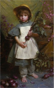 """Morgan Weistling Handsigned and Numbered Limited Edition Canvas Giclee:""""The Gardener"""""""