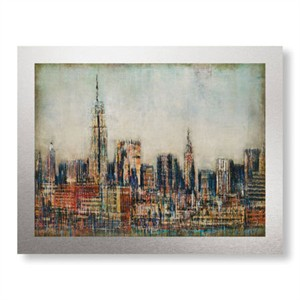 "Joel Holsinger Limited Edition Ready to Hang Giclee on Brushed Aluminum: ""New York City Skyline"""