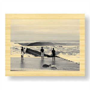 """Matt Lusk Limited Edition Ready to Hang Giclee on Sustainable Bamboo: """"Lineup Lighthouse"""""""