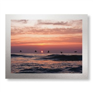 "Matt Lusk Limited Edition Ready to Hang Giclee on Brushed Aluminum: ""Pelican Sunrise"""