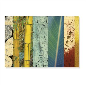 "MJ Lew Limited Edition Ready to Hang Giclee on Sustainable Bamboo: ""Rainforest Zen II"""