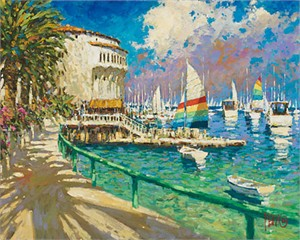"Marko Mavrovich Handsigned and Numbered Limited Edition Giclee on Canvas:""A Day in Catalina"""