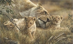"""Denis Mayer Jr Hand Signed and Numbered Limited Edition Canvas Giclee:""""Mother's Love"""""""