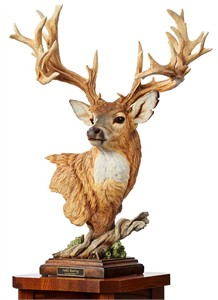 "Greg Peltzer Limted Edition Sculpture :""Noble Bearing - Whitetail Deer"""