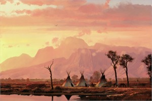"""Michael Coleman Hand Signed and Numbered Limited Edition Giclee:""""Sunrise in the Valley"""""""
