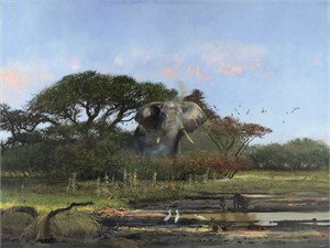 """Michael Coleman Hand Signed and Numbered Limited Edition Giclee:""""In the Chobe"""""""