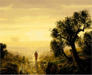 "Michael Coleman Hand Signed and Numbered Limited Edition Giclee:""Road to Jerusalem"""