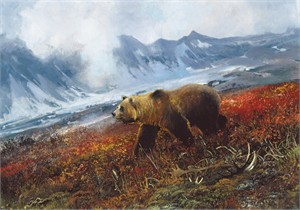 "Michael Coleman Hand Signed and Numbered Limited Edition Giclee:""Across the Tundra"""