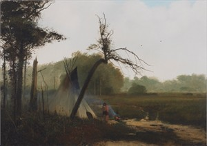 """Michael Coleman Hand Signed and Numbered Limited Edition Giclee:""""Sioux Camp"""""""