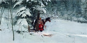 """Michael Coleman Hand Signed and Numbered Limited Edition Giclee:""""Winter Retreat"""""""