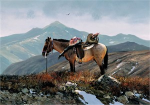 """Michael Coleman Hand Signed and Numbered Limited Edition Giclee:""""On Polo Pass"""""""