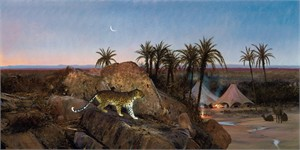 """Michael Coleman Hand Signed and Numbered Limited Edition Giclee:""""Desert Leopard"""""""