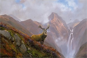 "Michael Coleman Hand Signed and Numbered Limited Edition Giclee:""In the Highlands"""