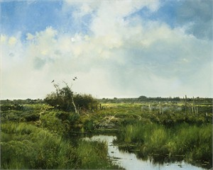 "Michael Coleman Hand Signed and Numbered Limited Edition Giclee:""Summer Pasture"""
