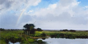 """Michael Coleman Hand Signed and Numbered Limited Edition Giclee:""""Passing Showers"""""""
