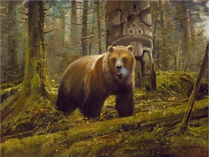 """Michael Coleman Hand Signed and Numbered Limited Edition Giclee:""""Grizzly Spirit"""""""