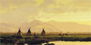 """Michael Coleman Hand Signed and Numbered Limited Edition Giclee:""""On the Milk River"""""""