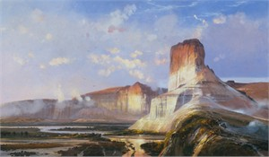 """Michael Coleman Hand Signed and Numbered Limited Edition Giclee:""""Castle Butte - Green River, Wyoming Territory"""""""