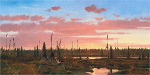 """Michael Coleman Hand Signed and Numbered Limited Edition Giclee:""""Cree Moose Hunters"""""""