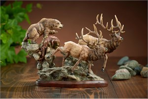 "Danny Edward Limited Edition Sculpture: ""Majesty Elk Sculpture"""