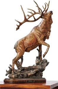 """Stephen Herrero Elk Sculpture:""""Call to Contest"""""""