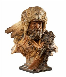 "Stephen Herrero Millcreek Sculpture:""Legend – Mountain Man"""