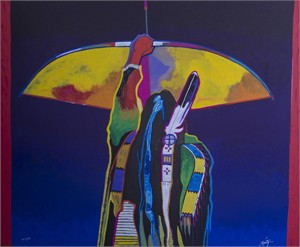 "John Nieto Hand Signed and Numbered Limited Edition Serigraph:""Whirlwind Soldier"""