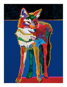 """John Nieto Hand Signed and Numbered Limited Edition Oversize Canvas Giclee:""""Coyote Self Portrait"""""""