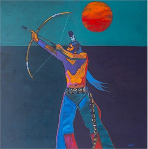 "John Nieto Open Edition Canvas Giclee:""Nocturnal Archer"""