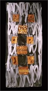 "Jason Mernick Torch Painter Original Metal Art :""WEAVE III (Stainless Steel/Copper)"""