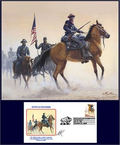 "Mort Kunstler Handsigned and Numbered Limited Edition Print:""Buffalo Soldiers of the West """