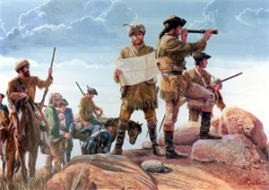 "Mort Kunstler Handsigned and Numbered Limited Edition Giclee on Canvas:""Lewis and Clark"""